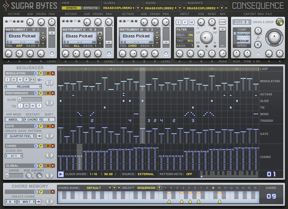 Consequence | Chord-Sequencer and Arpeggiator with MIDI out