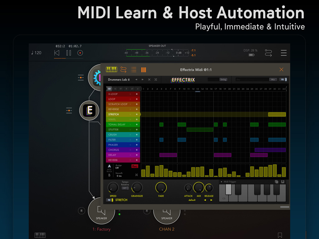 Effectrix for iPad   Multi-Effect Looper for professional mobile