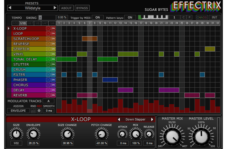 Effectrix | Effects Sequencer with 14 effects
