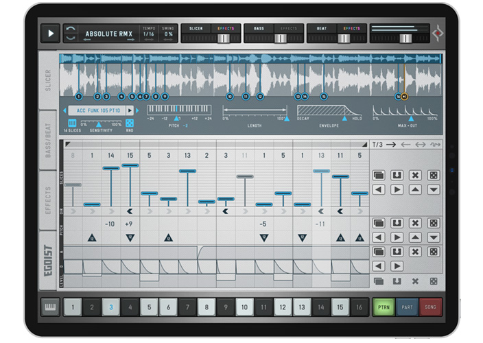 Egoist for iPad | Mobile Groove Box with Sample Slicer, Drum