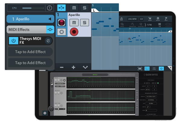 Thesys for iPad | Pitch Sequencer with vast MIDI out capabilites