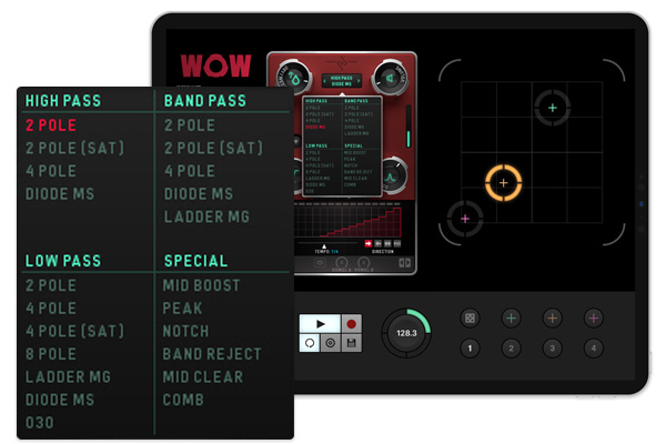 WOW2 for iPad | Filterbox with extensive Connectivity Options